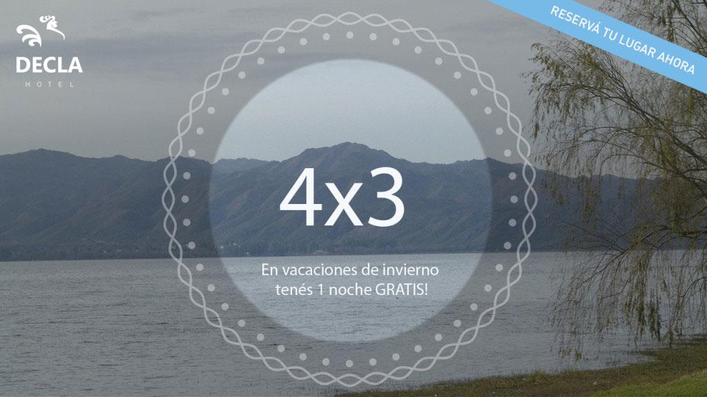 Promo 4x3 vacaciones invierno